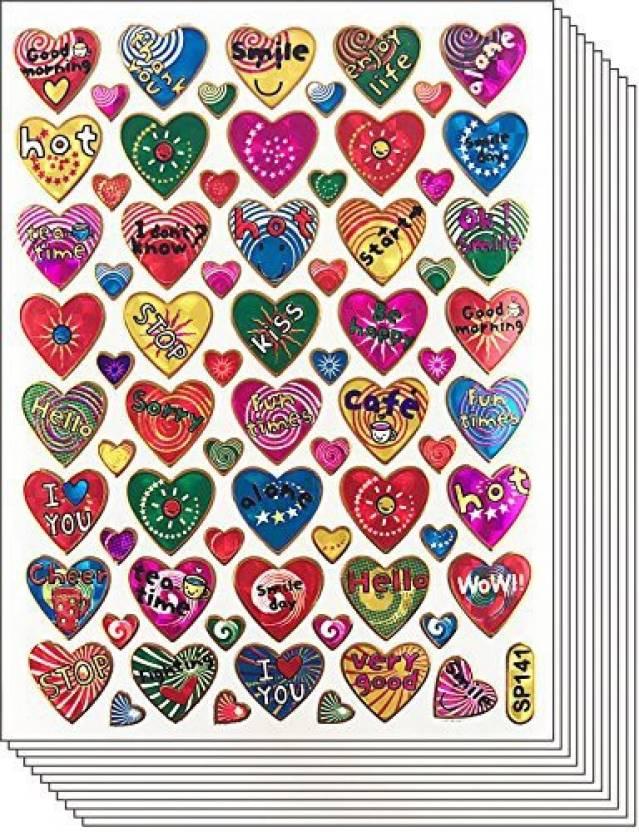 Jazzstick 400 Colorful Valentine Heart Decorative Sticker