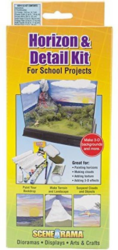 Woodland Scenics Diorama Kit, Horizon And Detail - Diorama Kit