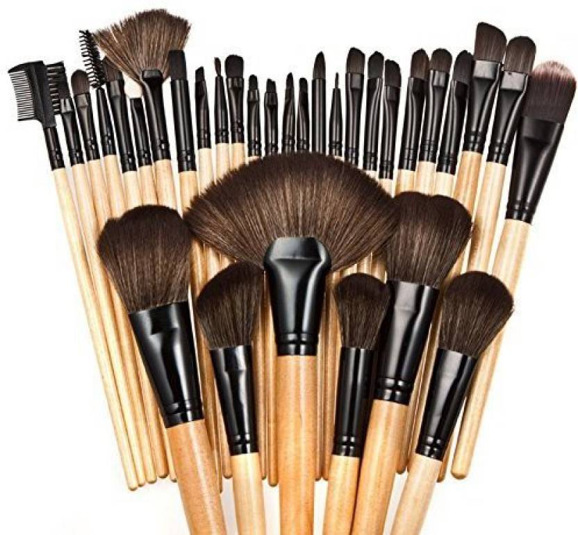 Ace Professional Superior Soft Cosmetic Makeup Brush Set Kit Women Makeup  Sets + Pouch Bag Case (Pack of 32) 3e2e14bcd5
