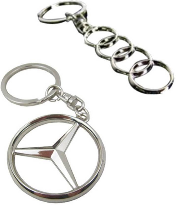 Chainz Audi Ring And Mercedes Benz Metal Key Chain Buy Chainz - Audi keychain