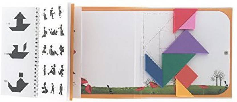 Qualors Travel Tangram Size L Includes 240 Puzzles And Solutions