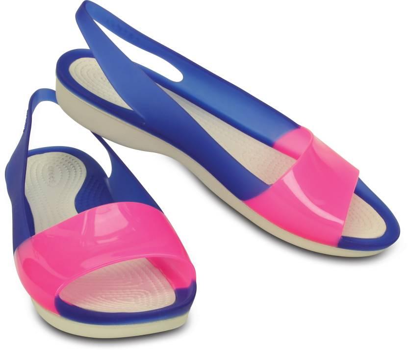 7f374500167c Crocs Women Cerulean Blue Stucco Flats - Buy Crocs Women Cerulean  Blue Stucco Flats Online at Best Price - Shop Online for Footwears in India