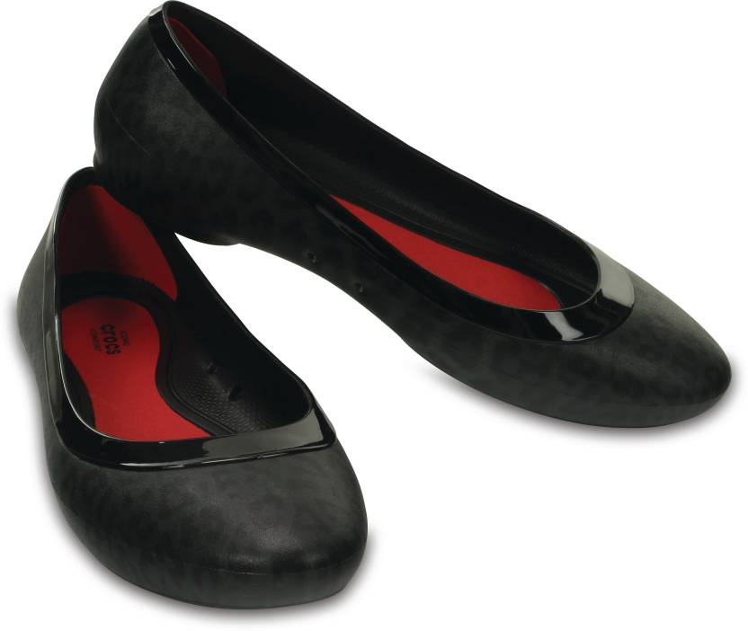 904b3e69ac257f Crocs Women Black Flats - Buy 203406-060 Color Crocs Women Black Flats Online  at Best Price - Shop Online for Footwears in India