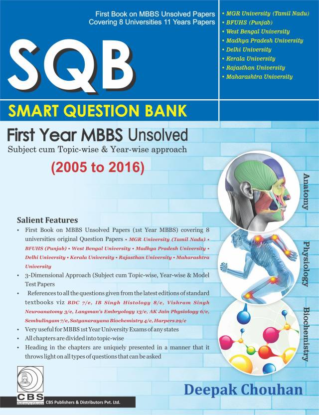 Sql Smart Question Bank First Year Mbbs Unsolved 2005 2016