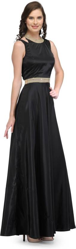 Raas Prêt Women's Fit and Flare Black Dress