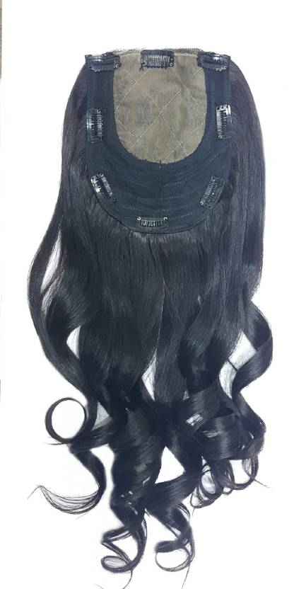 Kabello Curly Human Closure Topper For Women Girls 16 Inch Hair