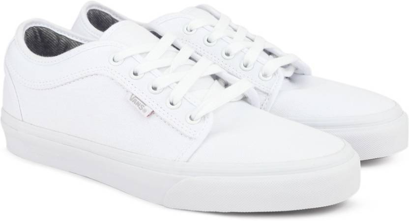 Vans CHUKKA LOW Sneakers For Men - Buy (10 OZ. CANVAS) WHITE WHITE ... 4f1155e03