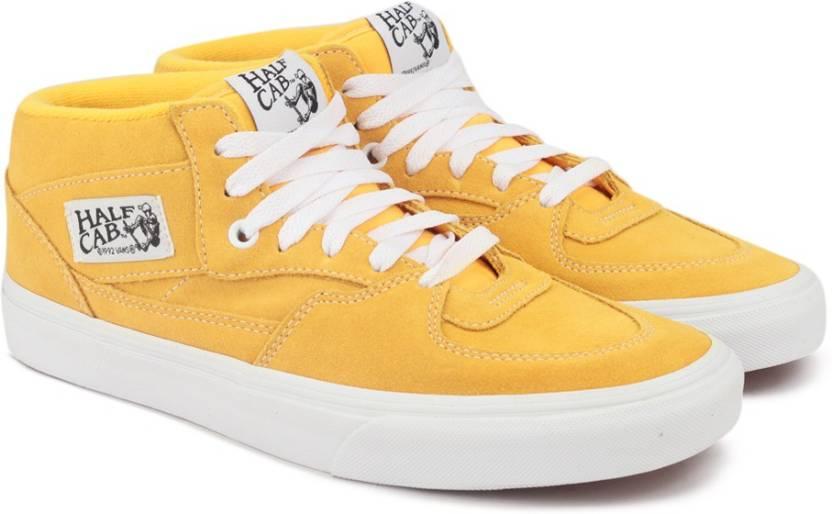41069eafc1 Vans Half Cab Mid Ankle Sneakers For Men - Buy (Suede) citrus true ...