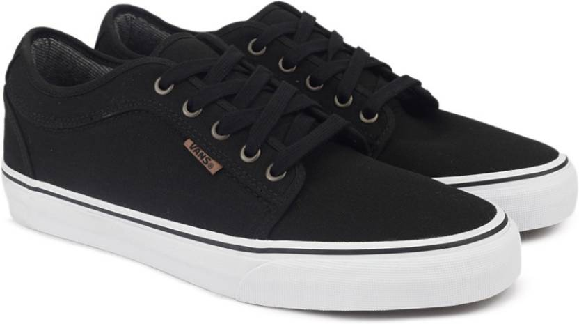 Vans CHUKKA LOW Sneakers For Men - Buy (10 OZ. CANVAS) BLACK WHITE ... a2accf4a2
