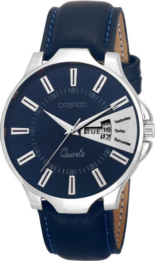 Casado Day And Date Blue Watch - For Men
