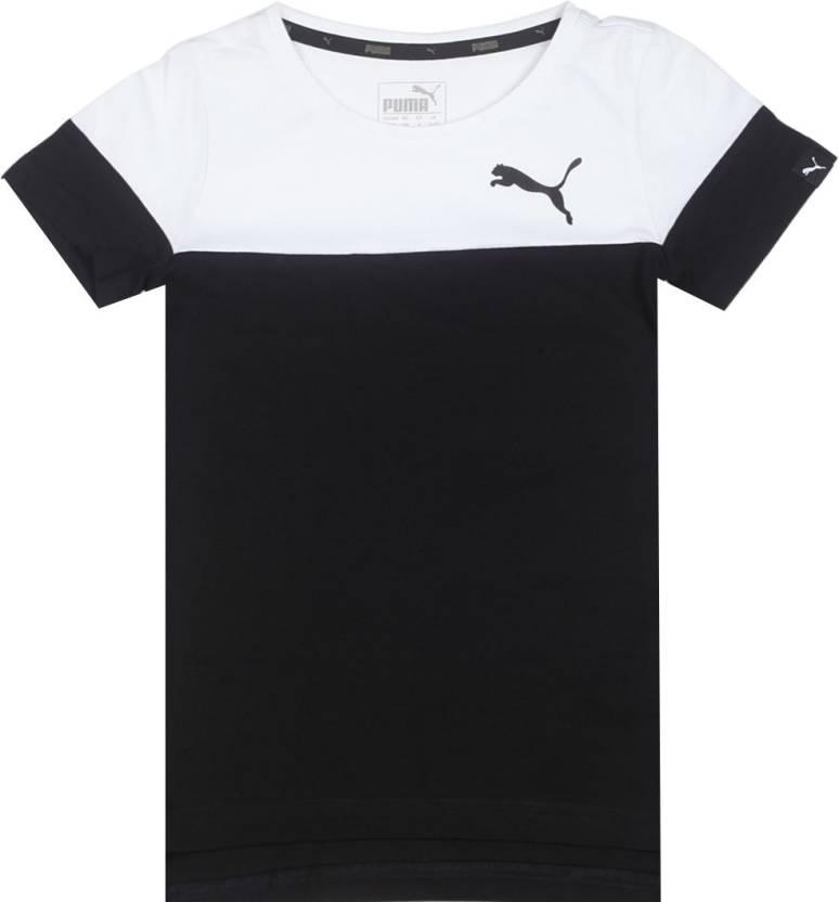 Puma Boys Solid Cotton T Shirt Price in India - Buy Puma Boys Solid ... 332fc039b044
