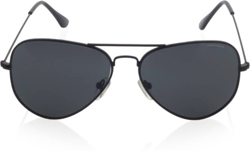 445bf9bfed0c Buy Provogue Aviator Sunglasses Black For Men Online @ Best Prices ...