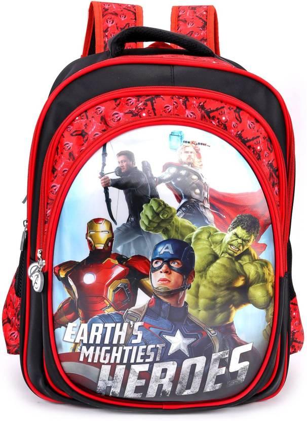 Marvel Avengers Heros School Bag 18 inches School Bag (Multicolour ed21464a0129c