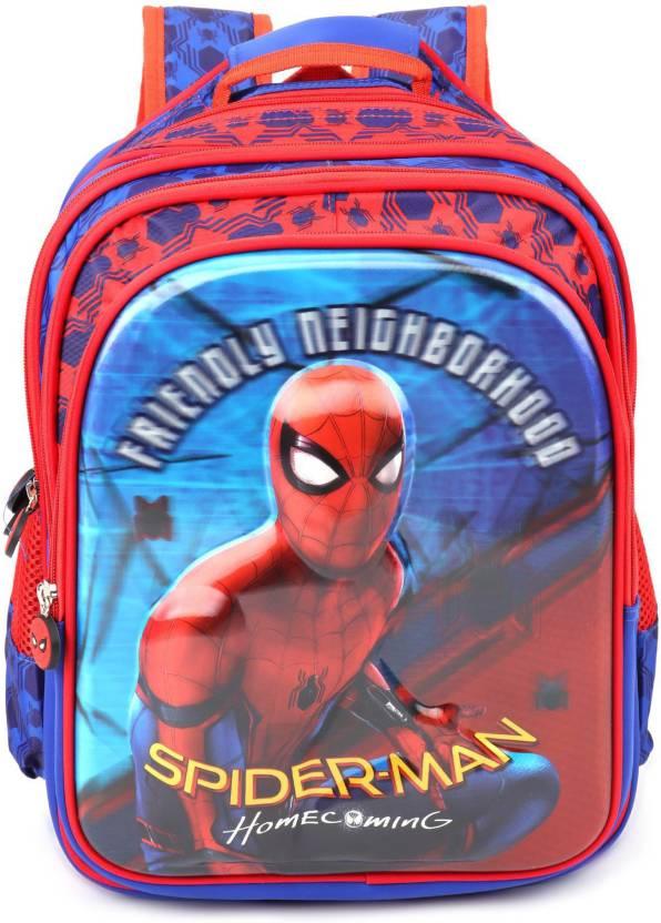 e32bc492b8b Marvel Spiderman Homecoming Blue School Bag 18 inches School Bag (Blue, 40  L)