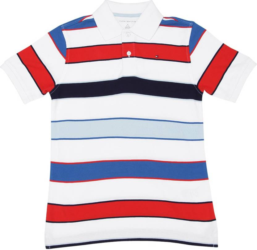 c5a0ead8a Tommy Hilfiger Boys Striped Cotton T Shirt Price in India - Buy ...