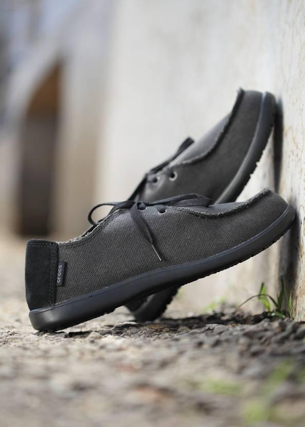 7b7a00db968 Crocs Santa Cruz 2-eye Canvas Shoe Boat Shoe For Men - Buy Black ...
