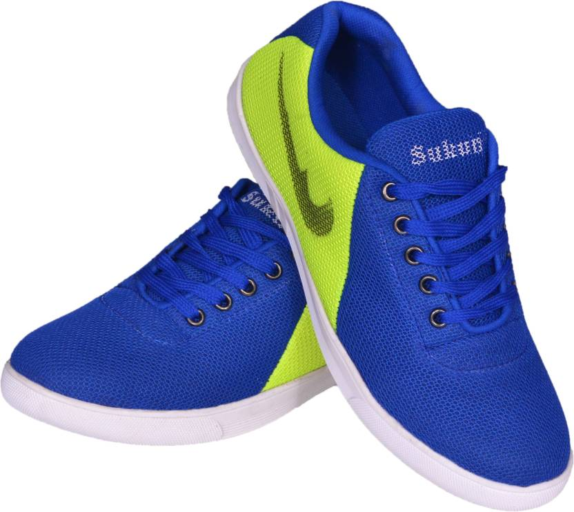 Sukun Canvas Shoes, Casuals, Dancing Shoes, Sneakers, Party Wear  (Blue, Grey)