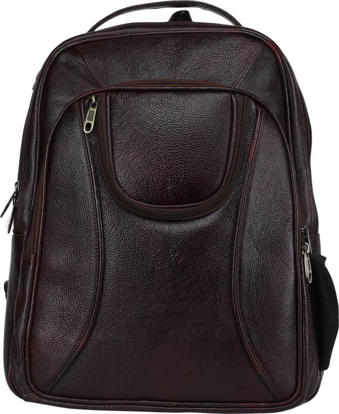 f4ca453ae3 Bharat Leather Emporium Bharat Leather Emporium - Pure Genuine Leather  Backpack travel bag 0 L Laptop Backpack (Brown)
