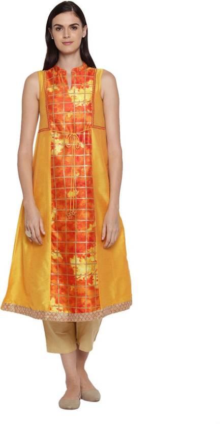 59ba3aefdd6 Rangmanch by Pantaloons Women Printed A-line Kurta - Buy Rangmanch ...