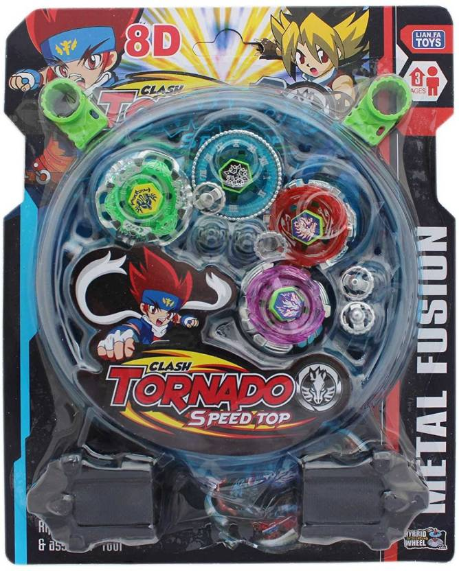 beyblade 4 beyblade set with ripchord launcher and assemble tool