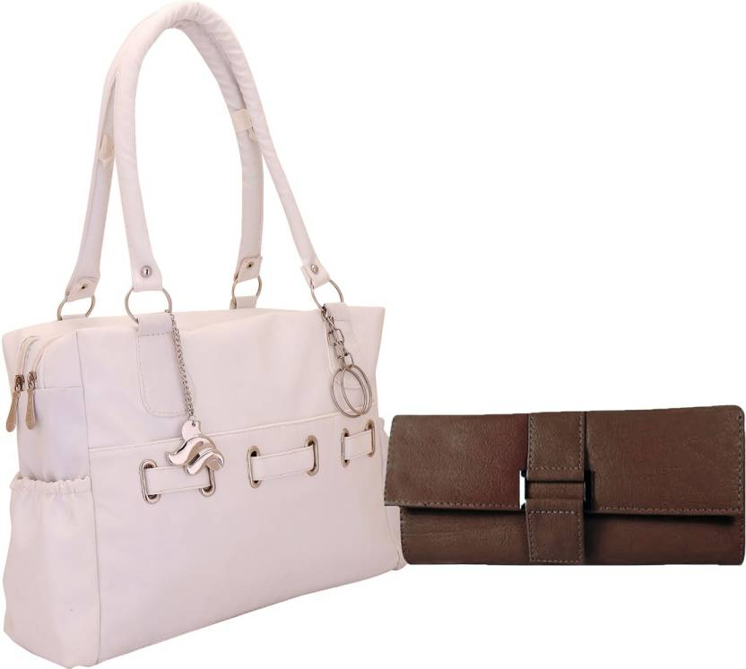 ed930a5bac88 Buy Lady bar Shoulder Bag White-Brown Online   Best Price in India ...