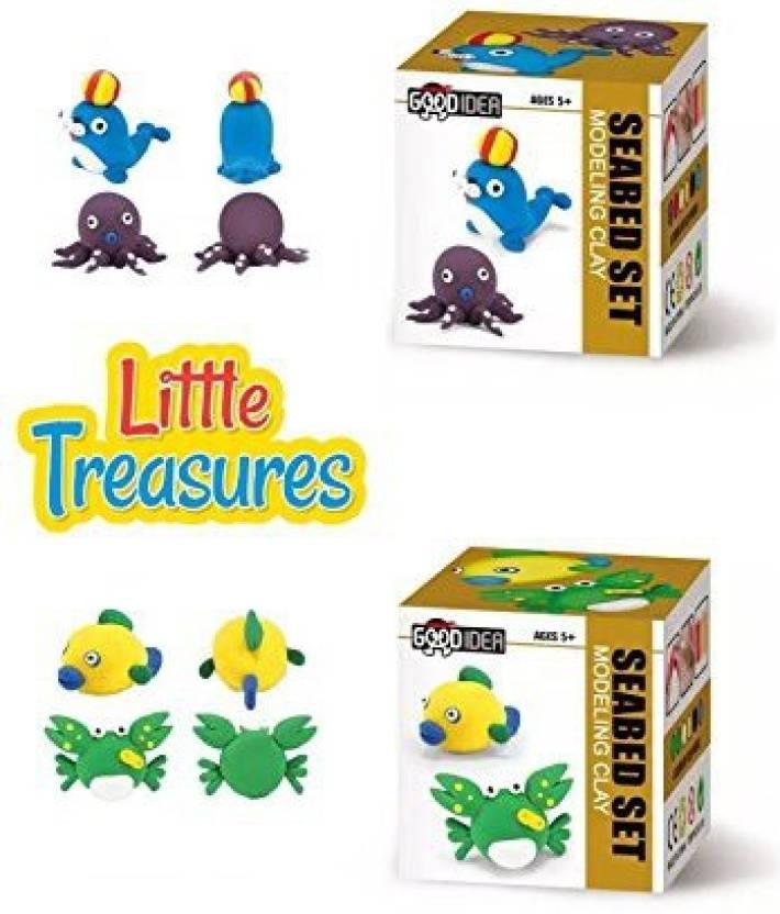 Little Treasures Molding Air-Dry Clay Play-Dough Kits - Set