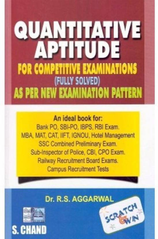 Quantitative Aptitude For Competitive Examinations (English) 7th Edition (Paperback, Experts' Compilation) price comparison at Flipkart, Amazon, Crossword, Uread, Bookadda, Landmark, Homeshop18