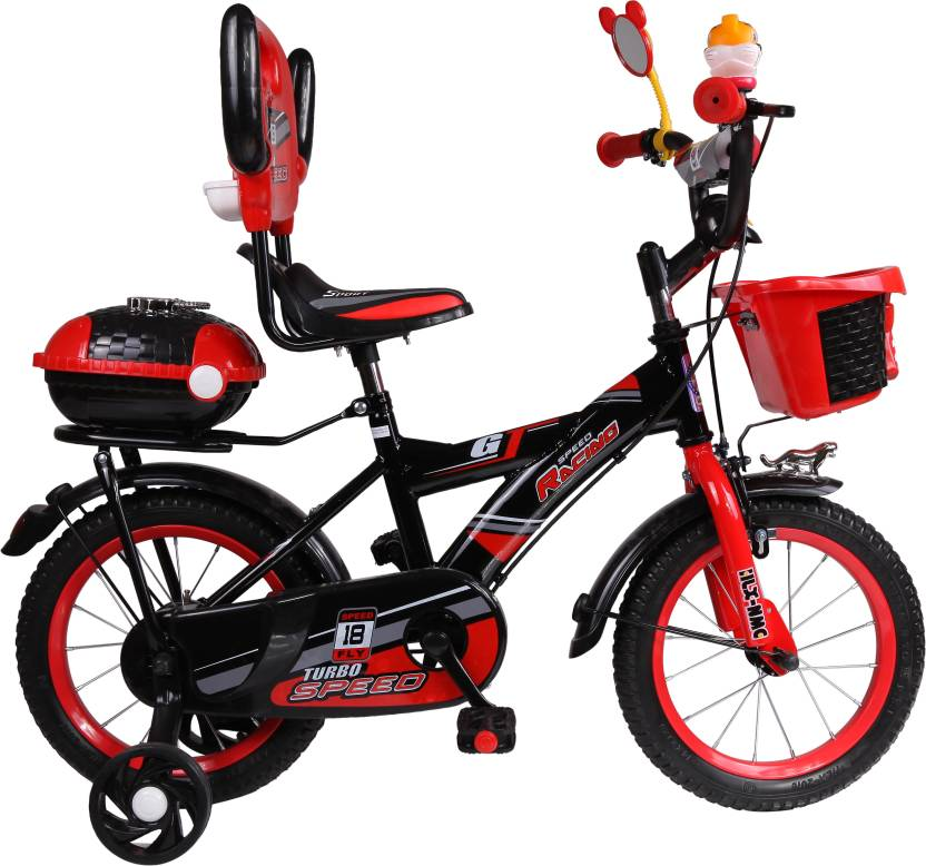 390b444d3e3 HLX-NMC KIDS BICYCLE BLACK RED 16 T Recreation Cycle Price in India ...