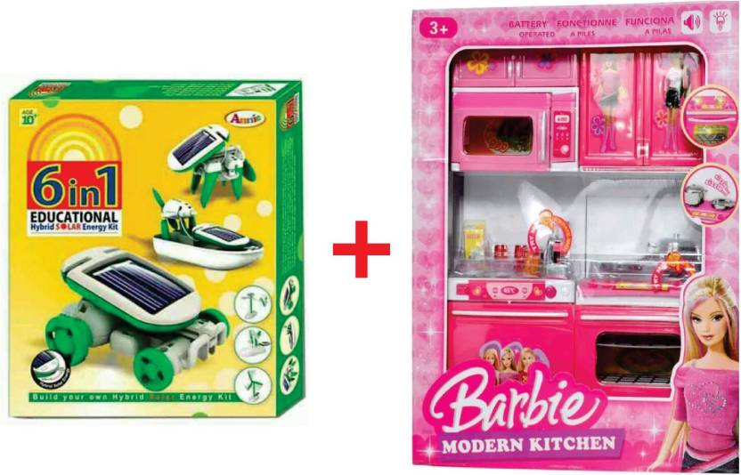 Yd Yd Combo Of 6 In 1 Educational Game And Barbie Kitchen Set Price