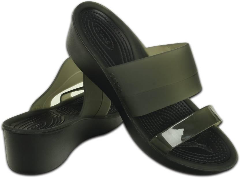 90d9475f937 Crocs Women Black Wedges - Buy 200031-060 Color Crocs Women Black Wedges  Online at Best Price - Shop Online for Footwears in India