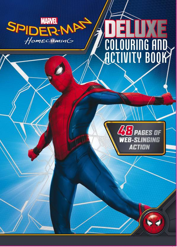 Spider Man Homecoming Deluxe Colouring And Activity Book 48 Pages Of Web