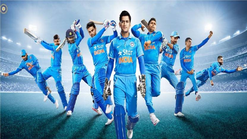 Indian Cricket Team Most Beautiful Wide Hd Wallpaper Poster On Fine