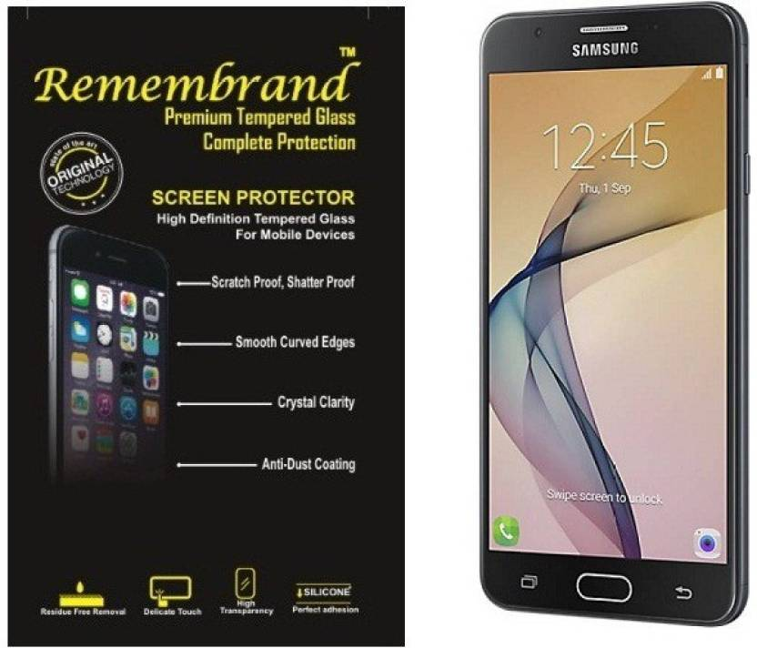 Remembrand Tempered Glass Guard for Samsung Galaxy J7-Pro