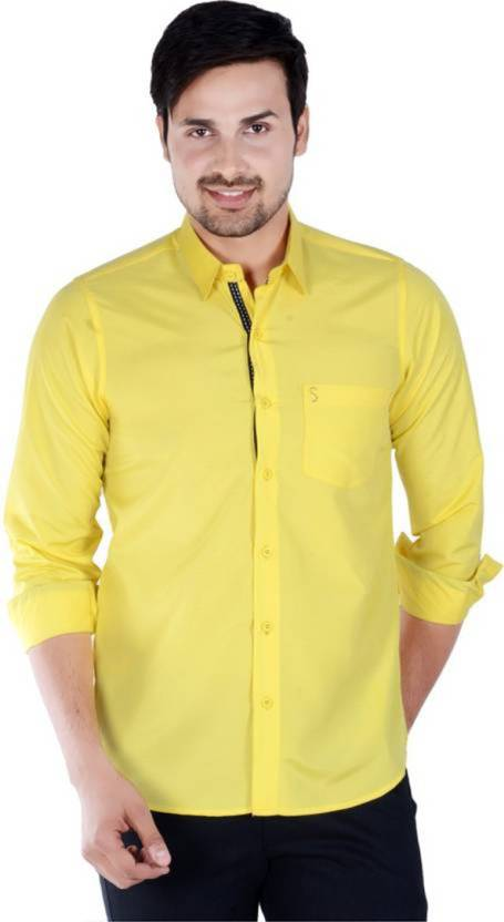 54cf61eaac7 S9 Fashion Men Solid Casual Shirt - Buy S9 Fashion Men Solid Casual Shirt  Online at Best Prices in India