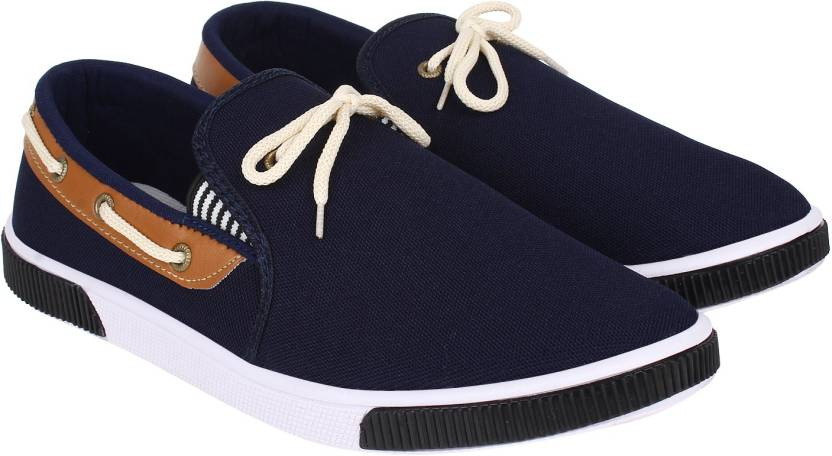 World Wear Footwear Loafers For Men (Blue)