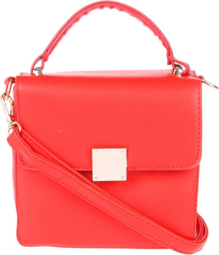 c905eaa034 Fur Jaden Women Formal Red PU Sling Bag Red - Price in India ...