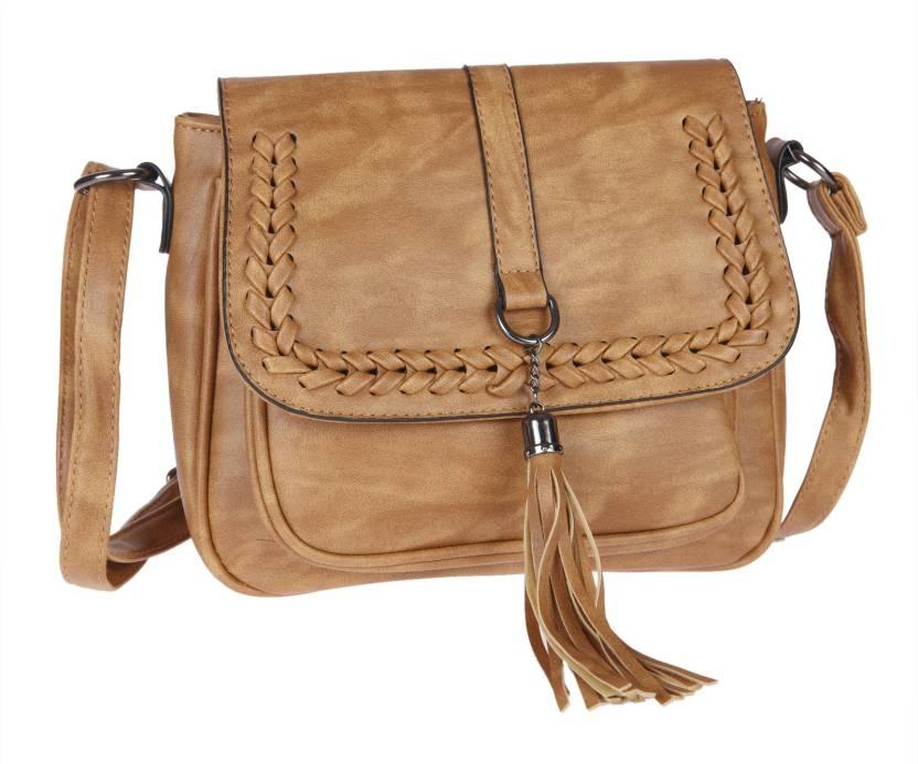 7f58cdfaf4 Fur Jaden Women Casual Tan PU Sling Bag Tan - Price in India ...
