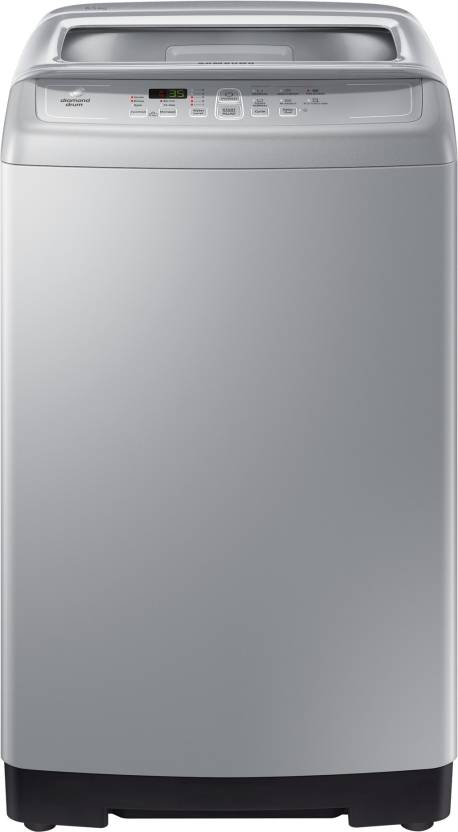 Samsung 6.5 kg Fully Automatic Top Load Washing Machine Silver WA65M4100HY/TL 01  Samsung Washing Machines