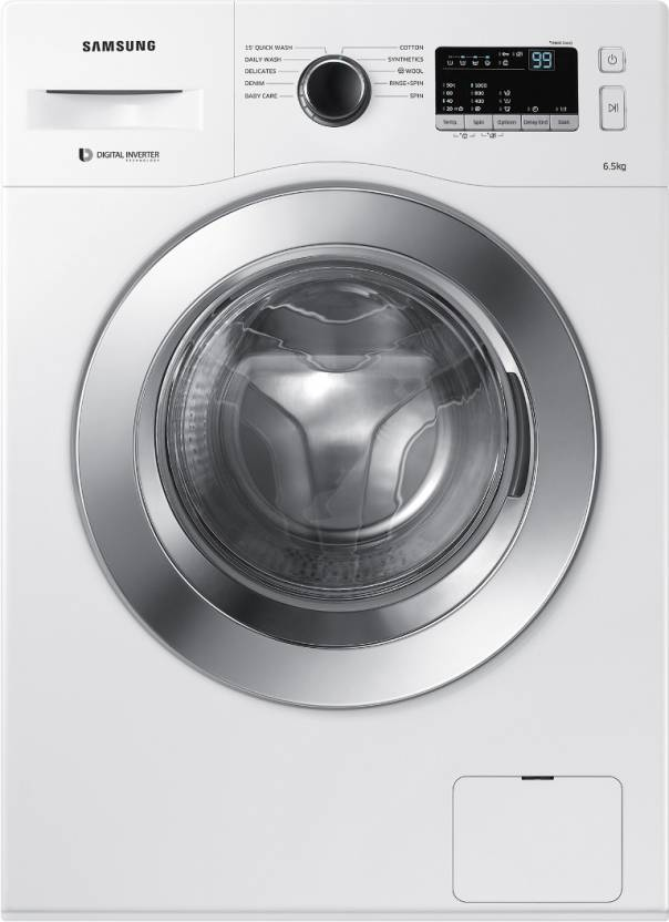 Samsung 6.5 kg Fully Automatic Front Load Washing Machine White  (WW65M206L0W/TL)