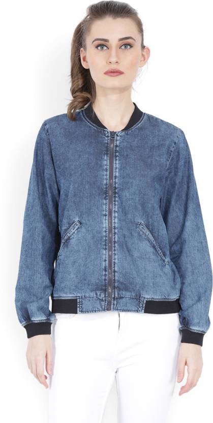 3b07a734994 Tokyo Talkies Full Sleeve Solid Women's Jacket - Buy NAVY BLUE Tokyo  Talkies Full Sleeve Solid Women's Jacket Online at Best Prices in India |  Flipkart.com
