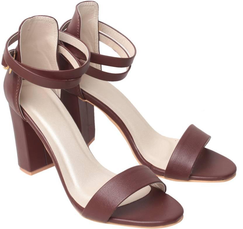 Klaur Melbourne Women Coffee Heels - Buy Coffee Color Klaur ...