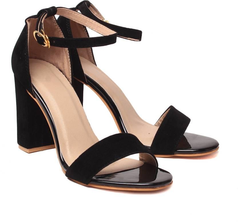 Klaur Melbourne Women Black Heels - Buy Black Color Klaur ...