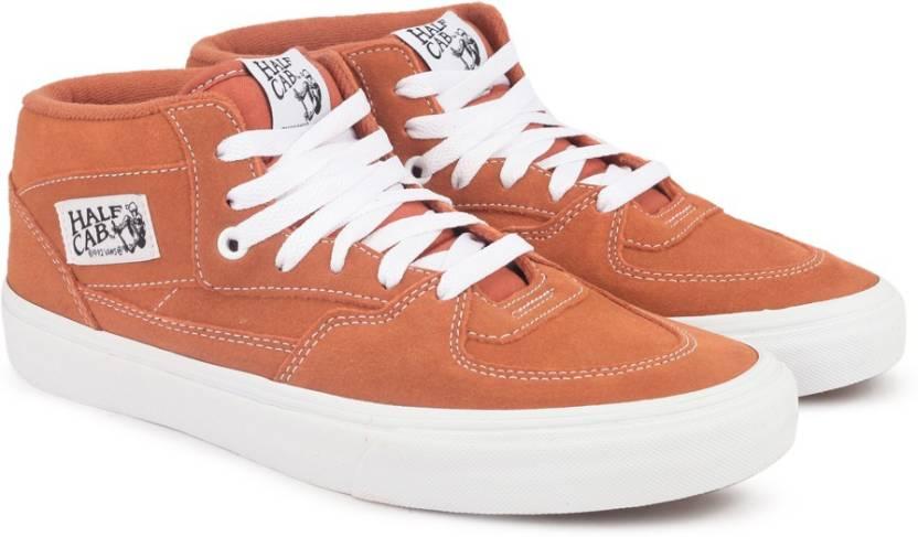 2d730273b7 Vans Half Cab Mid Ankle Sneakers For Men - Buy (Suede) tandori spice ...