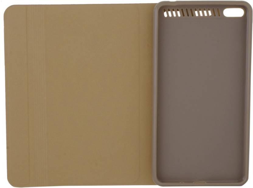 Colorcase Flip Cover for Lenovo Phab Plus  PB1 770N  Gold