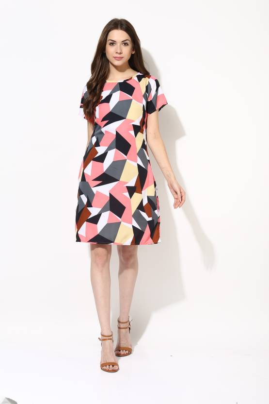 441b684b020 AKS Couture Women Shift Multicolor Dress - Buy Multicolored AKS Couture  Women Shift Multicolor Dress Online at Best Prices in India
