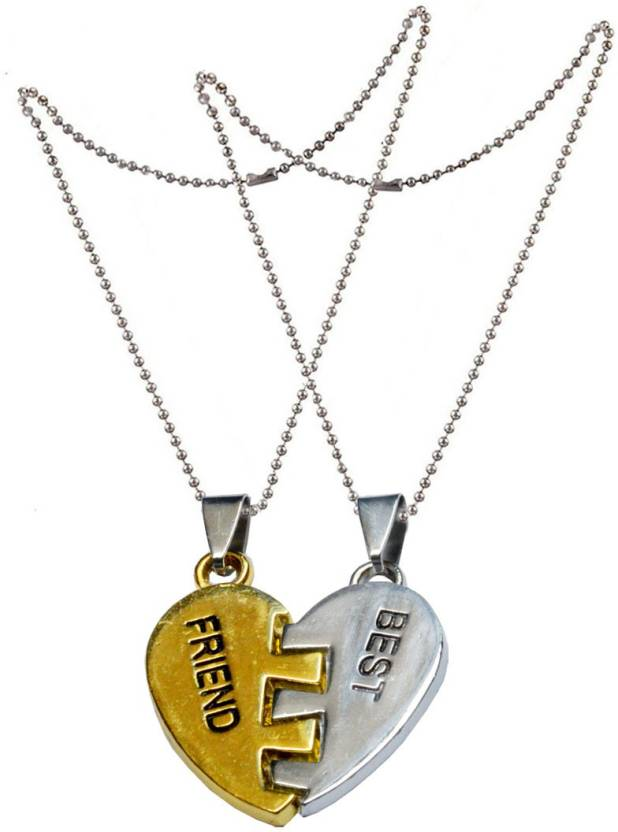 f921ba2207 Men Style Trendy Broken Heart Couple Letter Best Friend Two Pieces For Friendship  Jewelry SPn007011 Zinc Pendant Set Price in India - Buy Men Style Trendy ...
