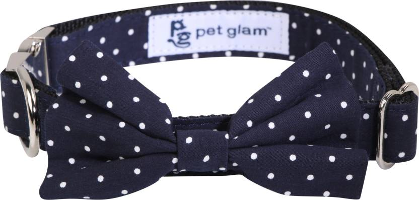 662d16ce59 Pet Glam Bow Tie-Polka Dots-Medium to Large Size Plain Dog Collar Charm