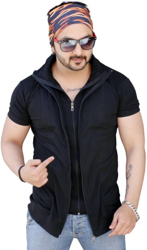873a07a6d39e6c Black Collection Solid Men High Neck Black T-Shirt - Buy Black Black  Collection Solid Men High Neck Black T-Shirt Online at Best Prices in India  | Flipkart. ...