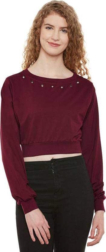 d0d1737b Miss Chase Casual Full Sleeve Solid Women's Maroon Top - Buy Maroon ...