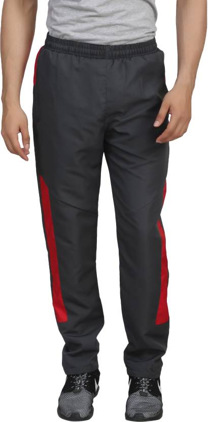 Trendy Trotters Solid Mens Grey Track Pants